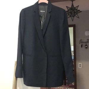 Madewell double breasted blazer, black 4